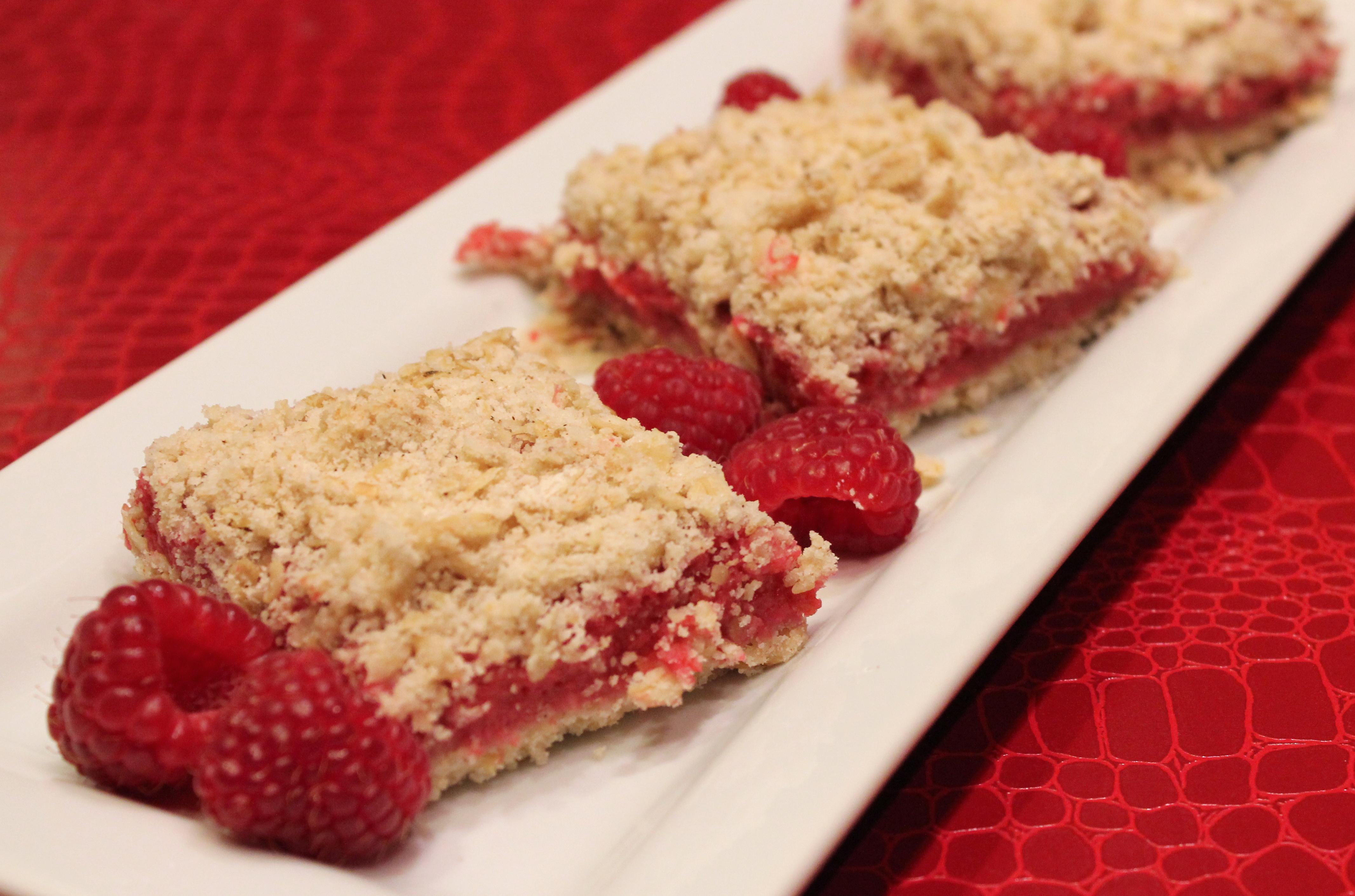 Raspberry Oatmeal Bars and a GIVEAWAY