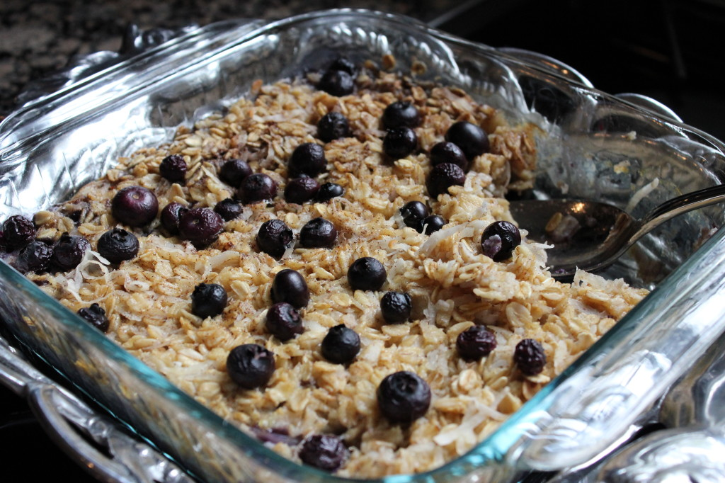 Baked Blueberry Coconut Oatmeal – Dallas Duo Bakes