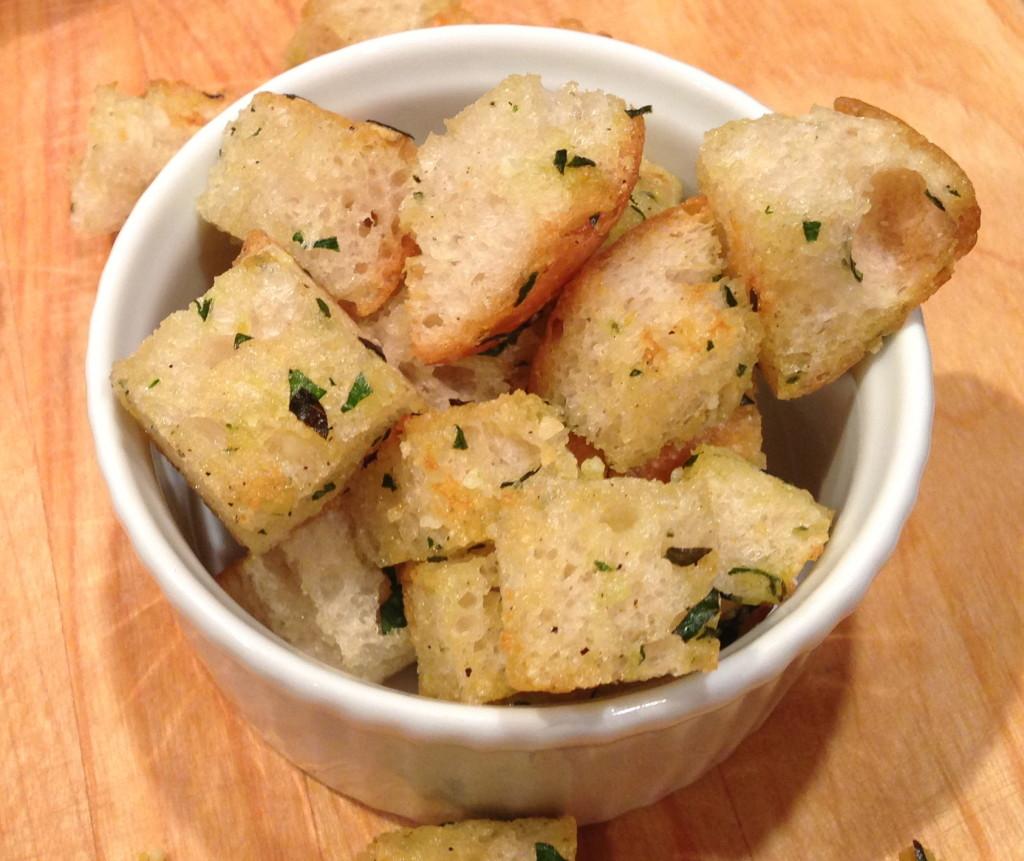 parmesan skillet croutons