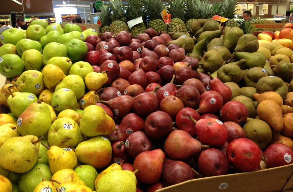 seasonal pears at Central Market