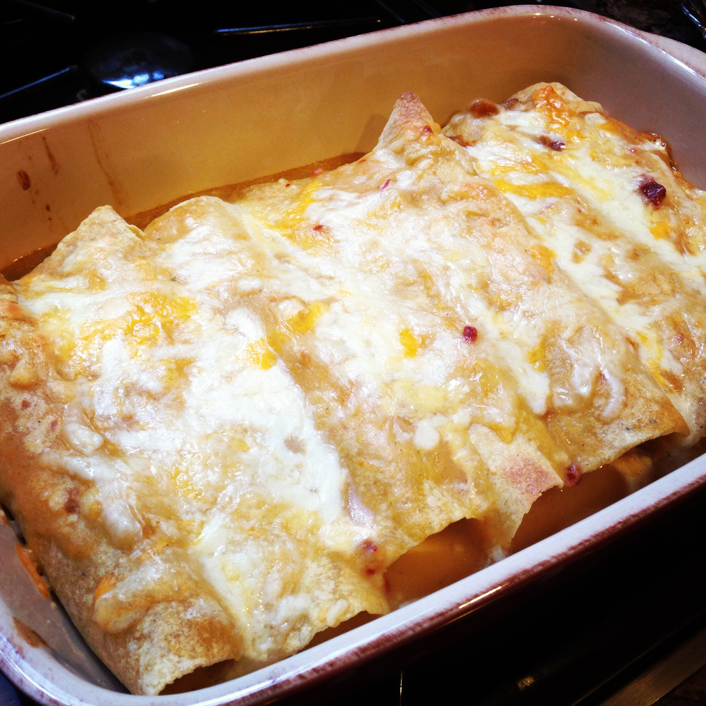Lighter Chicken Enchiladas – Dallas Duo Bakes