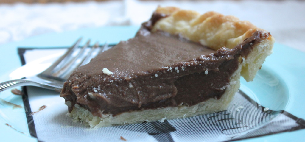 chocolate ice box pie with foolproof pie crust