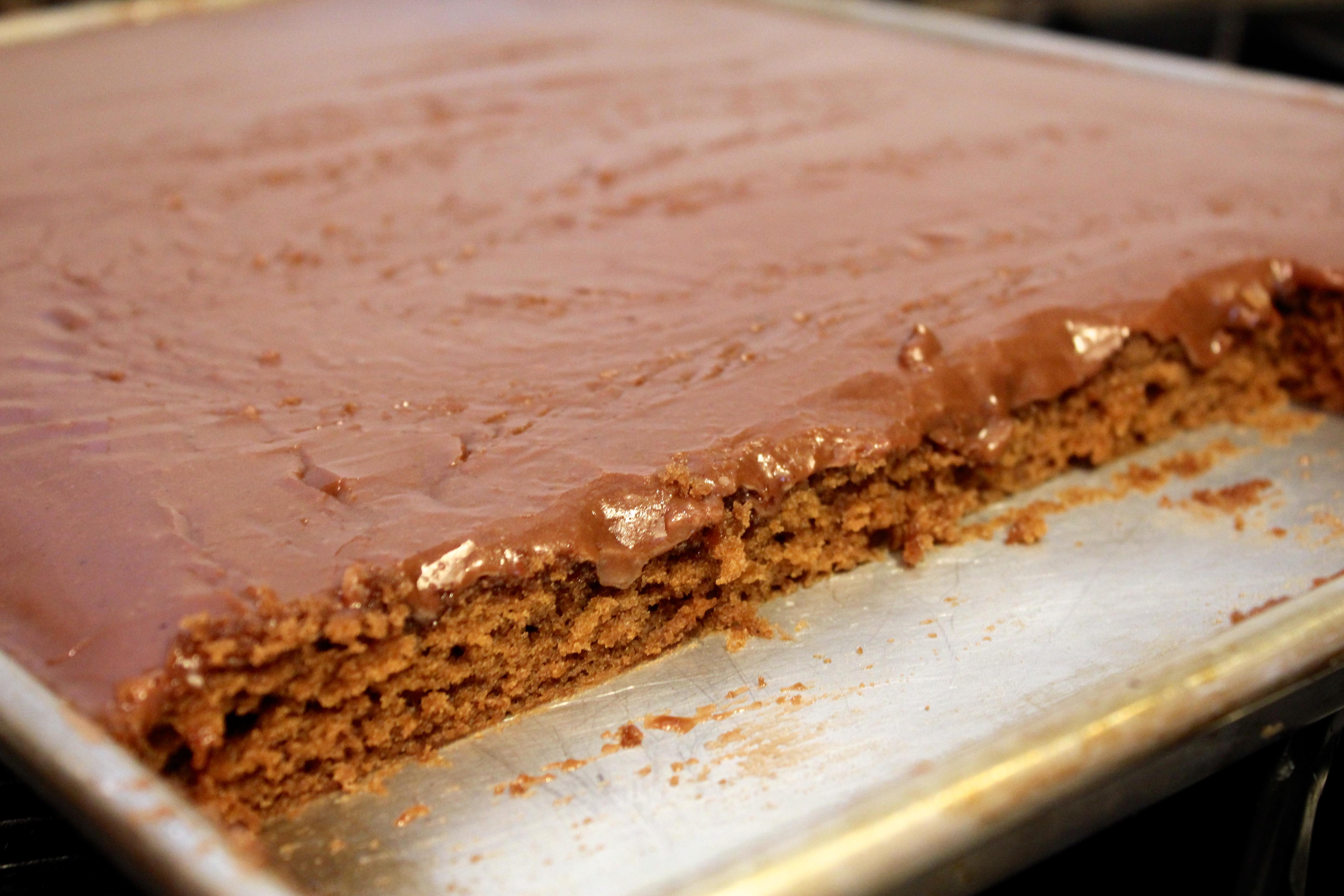 Leah's Texas Chocolate Sheet Cake – Dallas Duo Bakes