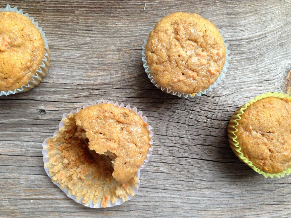 Whole wheat carrot applesauce muffins