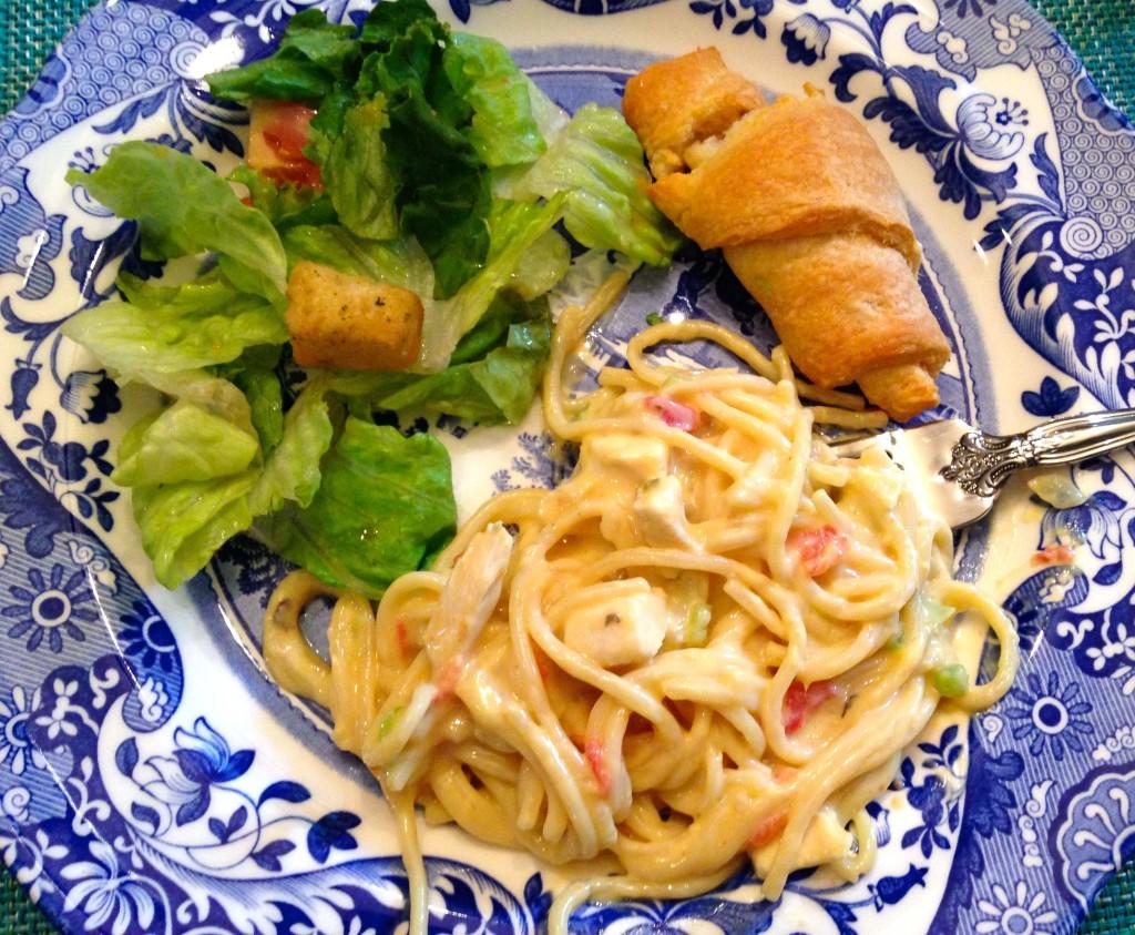 Stovetop Chicken Spaghetti