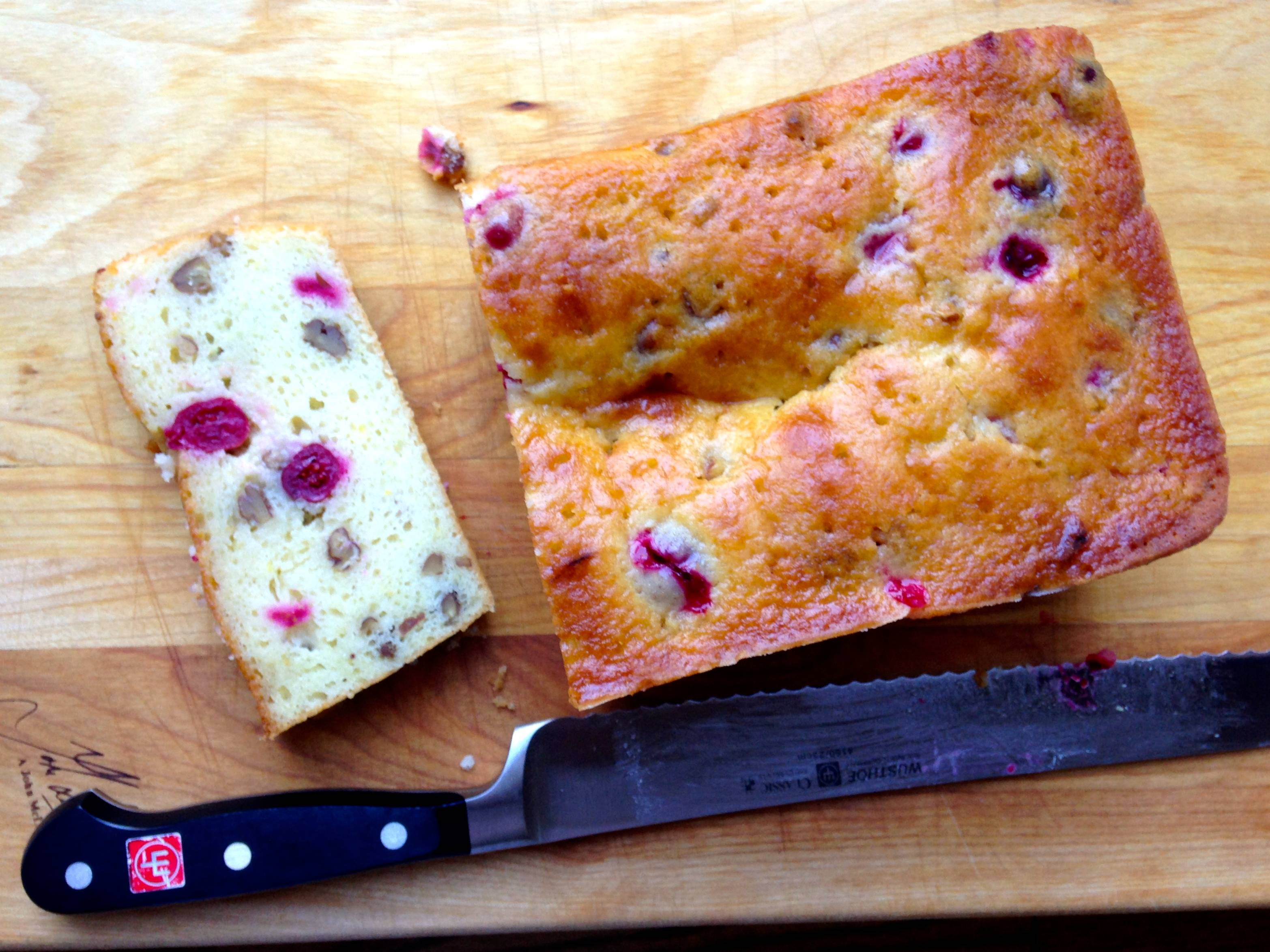 Cranberry Orange Yoghurt Bread