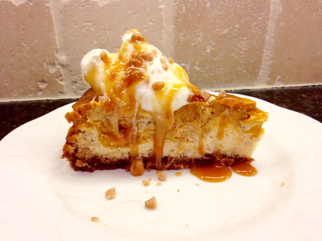 toffee pumpkin cheesecake
