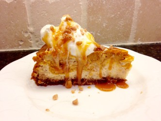 toffee pecan pumpkin cheesecake