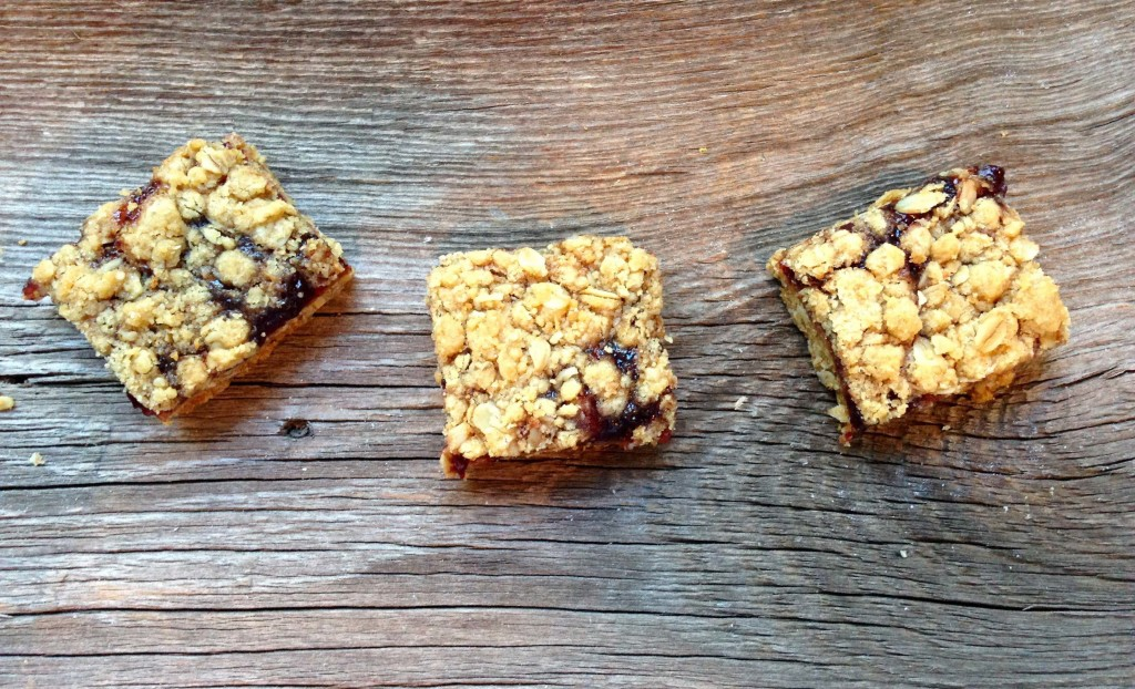 Oatmeal Jam Bar Cookies